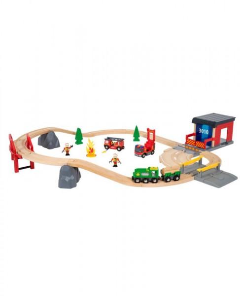 BRIO Bahn Großes Feuerwehr Deluxe-Set 30 Teile