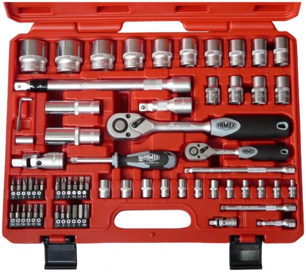 FAMEX Werkzeug Mechaniker Steckschlüsselsatz 66-tlg.